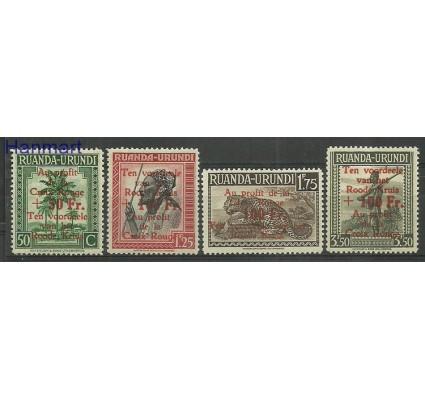 Znaczek Ruanda - Urundi 1944 Mi 101-104 Czyste **