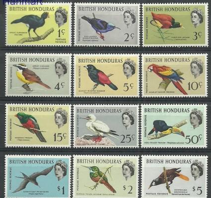Znaczek Honduras Brytyjski 1962 Mi 164-175 Z podlepką *