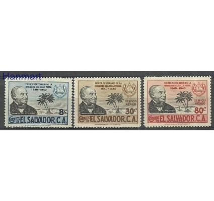Salwador 1940 Mi 575-577 Z podlepką *