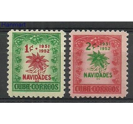 Znaczek Kuba 1952 Mi 356-357 Z podlepką *
