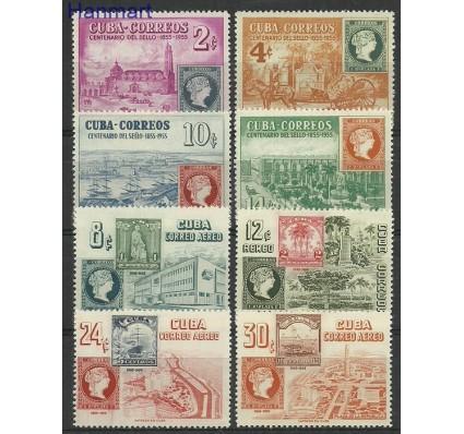 Znaczek Kuba 1955 Mi 446-453 Z podlepką *