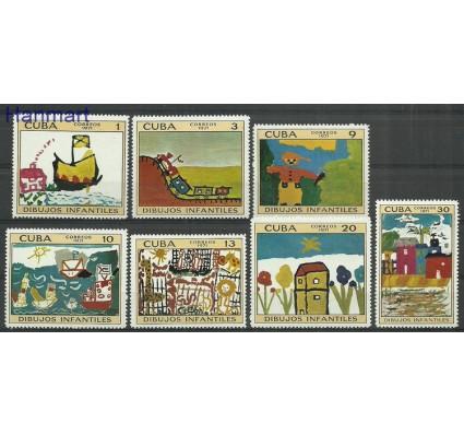 Znaczek Kuba 1971 Mi 1707-1713 Z podlepką *