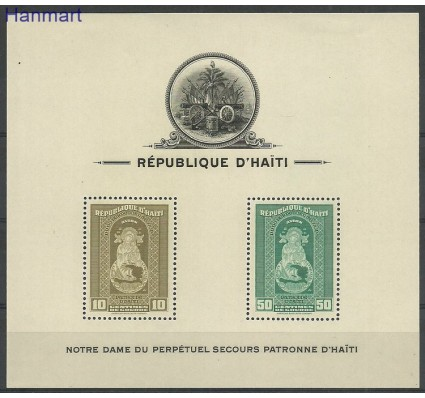 Znaczek Haiti 1942 Mi bl1 Z podlepką *