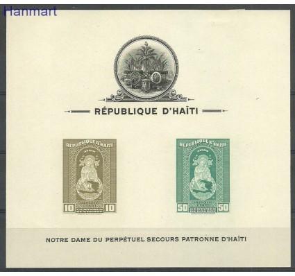 Znaczek Haiti 1942 Mi bl1B Z podlepką *