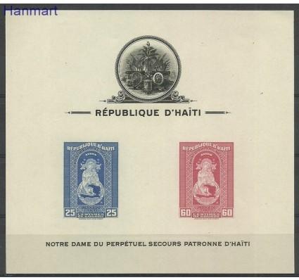 Znaczek Haiti 1942 Mi bl2B Z podlepką *