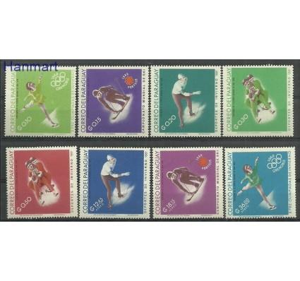 Znaczek Paragwaj 1966 Mi 1634-1641 Z podlepką *