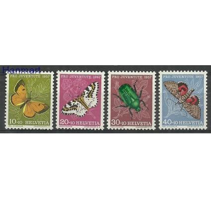 Znaczek Szwajcaria 1957 Mi 649-652 Z podlepką *