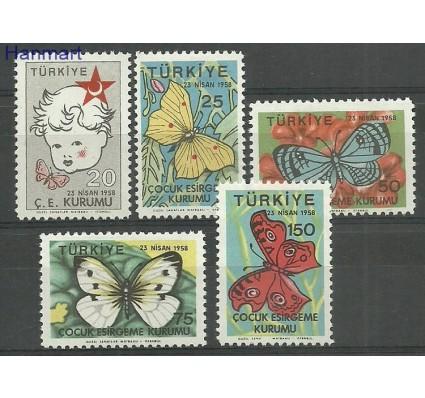 Znaczek Turcja 1958 Mi zwa242-246 Z podlepką *