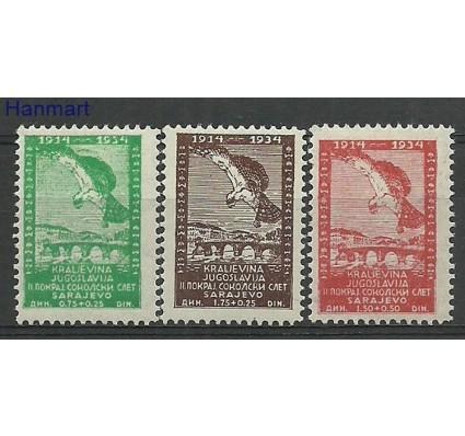 Znaczek Jugosławia 1934 Mi 272-274 Z podlepką *