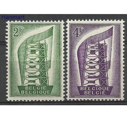 Znaczek Belgia 1956 Mi 1043-1044 Z podlepką *