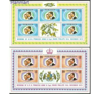 Znaczek Dominika 1973 Mi 379-380 Czyste **
