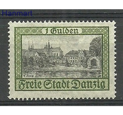 Wolne Miasto Gdańsk 1924 Mi 207 Z podlepką *