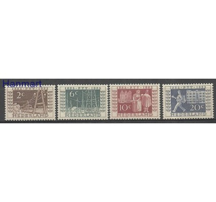 Znaczek Holandia 1952 Mi 597-600 Z podlepką *
