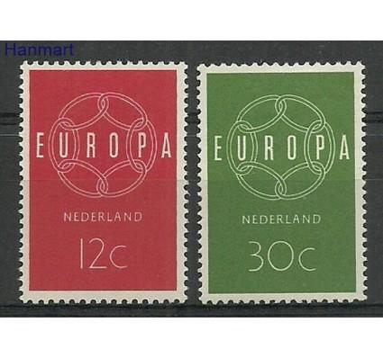 Znaczek Holandia 1959 Mi 735-736 Z podlepką *