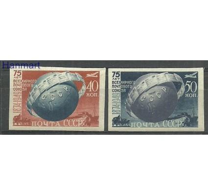 Znaczek ZSRR 1949 Mi 1383-1384B Z podlepką *