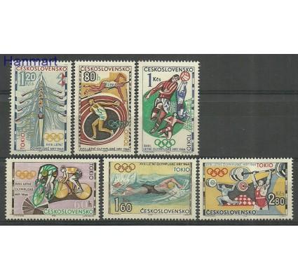 Znaczek Czechosłowacja 1964 Mi 1488-1493 Z podlepką *