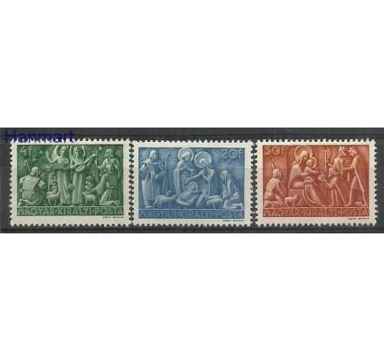 Znaczek Węgry 1943 Mi 742-744 Z podlepką *