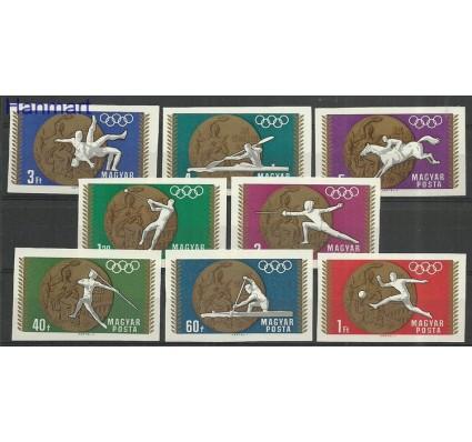 Znaczek Węgry 1969 Mi 2477-2484B Z podlepką *