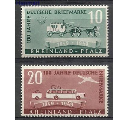 Znaczek Rheinland-Pfalz 1949 Mi 49-50 Z podlepką *