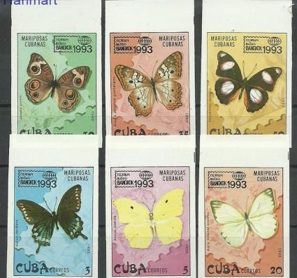 Znaczek Kuba 1993 Mi 3699-3704B Czyste **