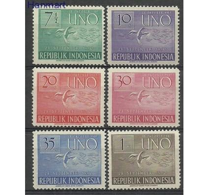 Znaczek Indonezja 1951 Mi 94-99 Z podlepką *