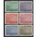 Indonezja 1951 Mi 94-99 Z podlepką *