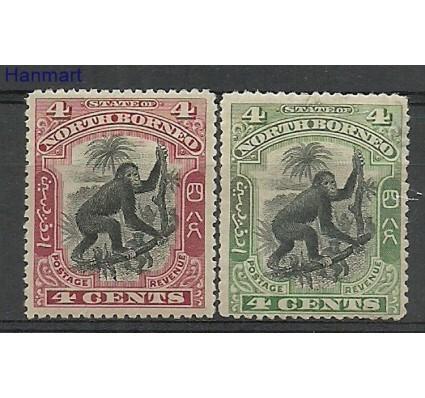 Znaczek Borneo / North Borneo 1899 Mi 93-94 Z podlepką *