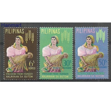 Znaczek Filipiny 1963 Mi 741-743 Z podlepką *