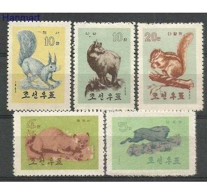 Znaczek Korea Północna 1962 Mi 433-437 Z podlepką *