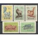 Korea Północna 1962 Mi 433-437 Z podlepką *