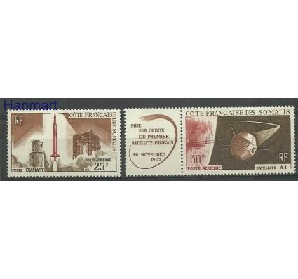 Znaczek Somali Francuskie 1966 Mi 371-372 Z podlepką *