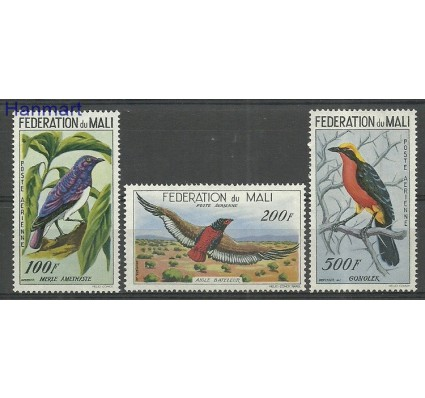 Znaczek Mali 1960 Mi 3-5 Z podlepką *
