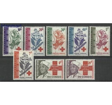 Znaczek Kongo Kinszasa / Zair 1963 Mi 119-126 Z podlepką *