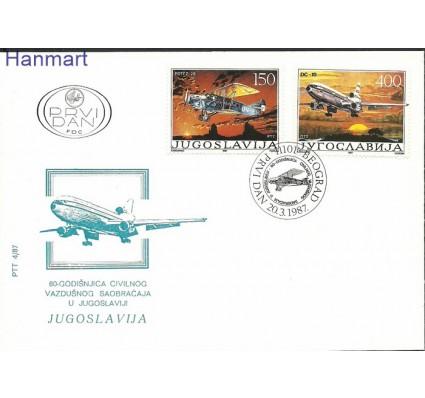 Znaczek Jugosławia 1987 Mi 2213-2214 FDC