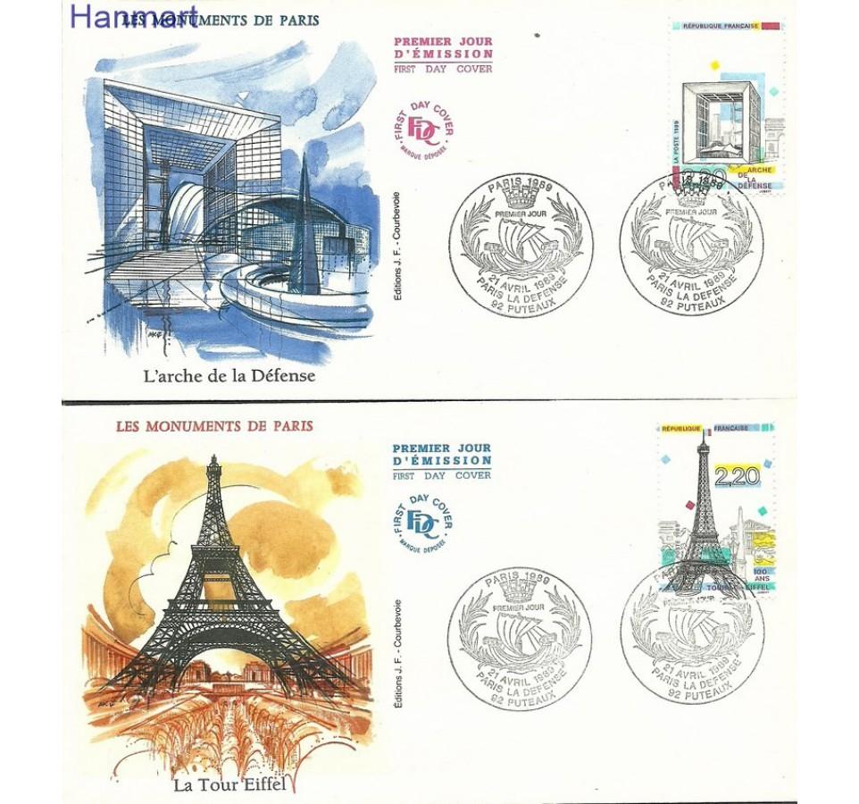 Francja 1989 Mi 2710-2714 FDC