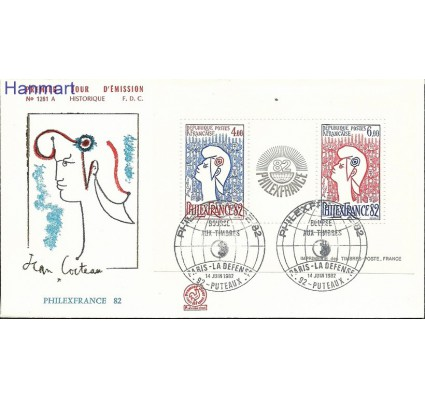 Znaczek Francja 1982 Mi bl6 FDC