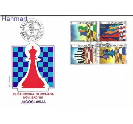 Jugosławia 1990 Mi 2443-2446 FDC
