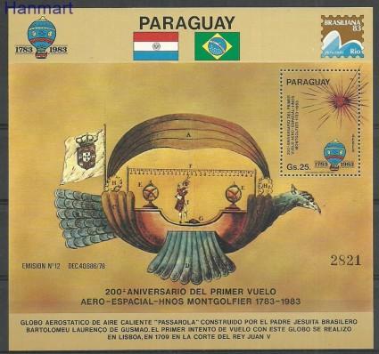 Znaczek Paragwaj 1983 Mi bl391 Czyste **