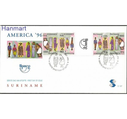 Znaczek Surinam 1996 Mi gut1565-1566 FDC