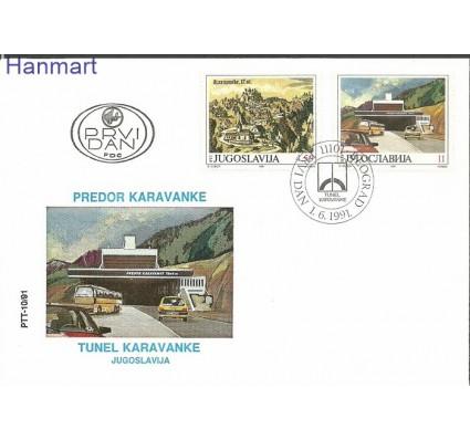 Znaczek Jugosławia 1991 Mi 2482-2483 FDC