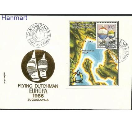 Znaczek Jugosławia 1986 Mi bl28b FDC