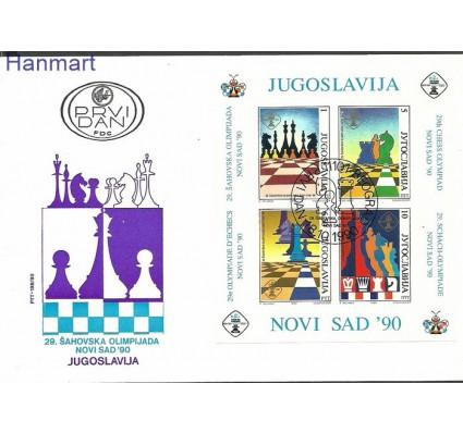 Znaczek Jugosławia 1990 Mi bl38b FDC