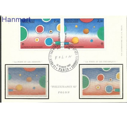 Znaczek Francja 1982 Mi par2321-2322 Karta Max