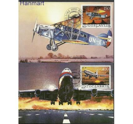 Znaczek Jugosławia 1987 Mi 2213-2214 Karta Max