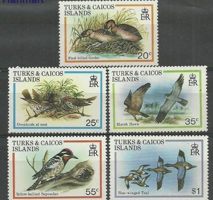 Znaczek Turks i Caicos 1980 Mi 481-485 Czyste **
