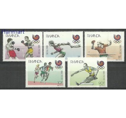 Znaczek Rwanda 1988 Mi 1393-1397 Czyste **