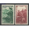 Francja 1941 Mi 500-501 Z podlepką *