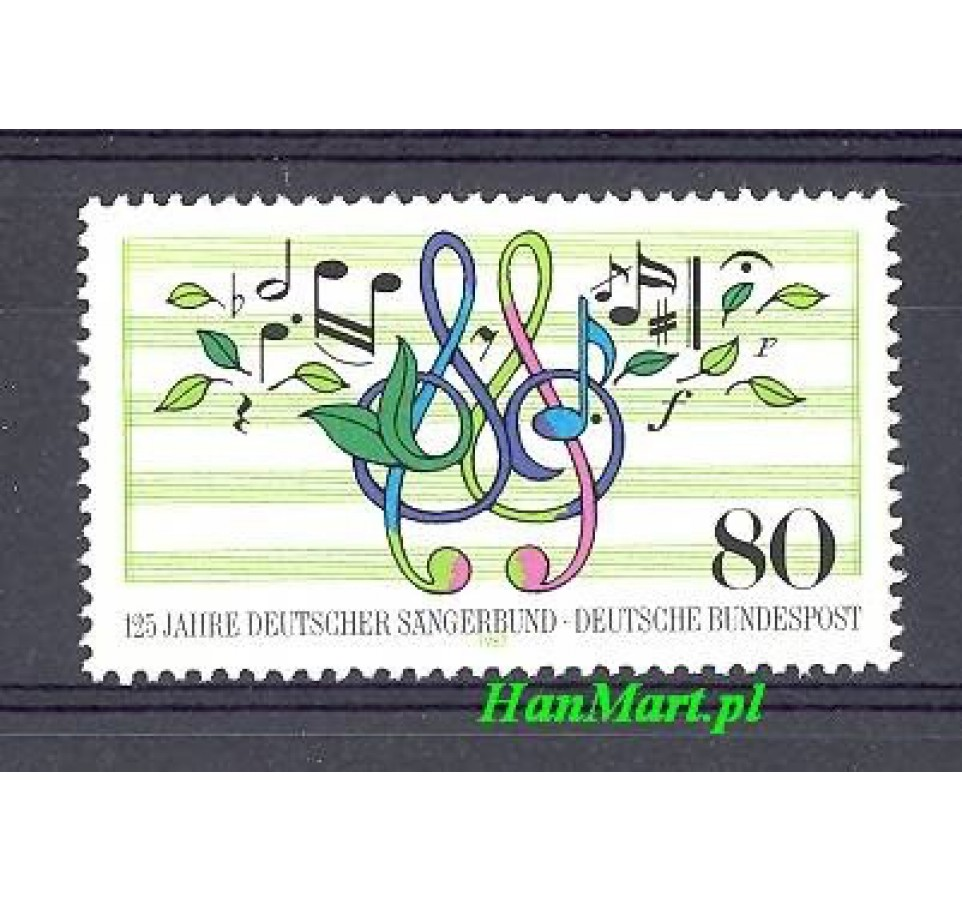Niemcy 1987 Mi 1319 Czyste **