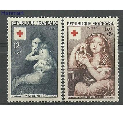 Znaczek Francja 1954 Mi 1032-1033 Z podlepką *