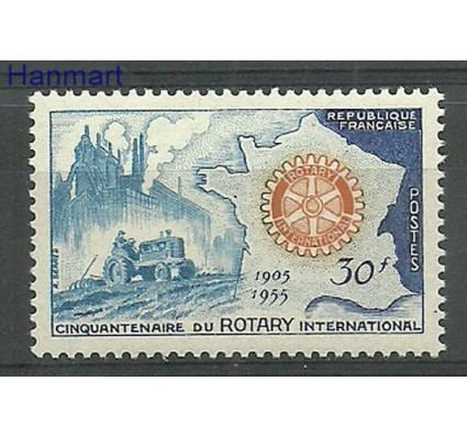 Znaczek Francja 1955 Mi 1035 Z podlepką *